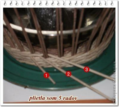"""Вот такая вот получилась плетенка, которая, как и все предыдущие """"ушла"""" в подарок! Высота - 25 см, диаметр дна - 25 см, диаметр в широком месте - 45 см....  фото 23"""