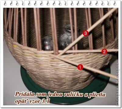 """Вот такая вот получилась плетенка, которая, как и все предыдущие """"ушла"""" в подарок! Высота - 25 см, диаметр дна - 25 см, диаметр в широком месте - 45 см....  фото 26"""