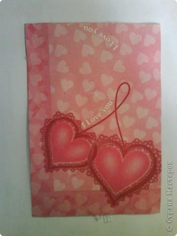 Моя первая открытка - водопад. Посвящена свадьбе сетрички. Надеюсь, сестре понравится, когда  получит эту открытку. фото 5