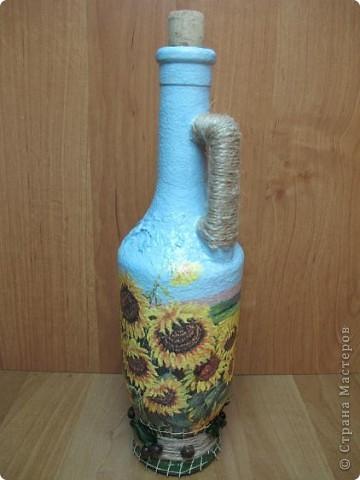 Правда, из такой бутылки с подсолнухами будет приятно наливать подсолнечное масло? Мне кажется, что да))) фото 1