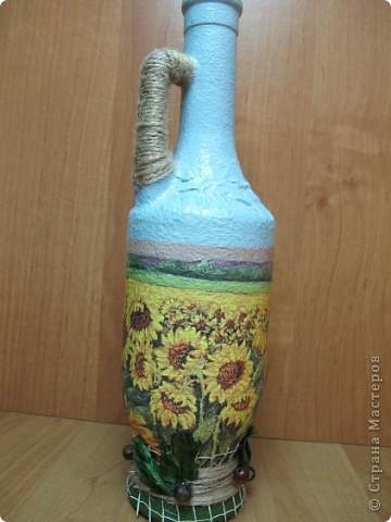 Правда, из такой бутылки с подсолнухами будет приятно наливать подсолнечное масло? Мне кажется, что да))) фото 4