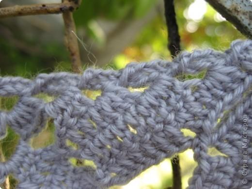 Гардероб Вязание крючком Вяжем в компании  Шарф-косынка Пряжа фото 9