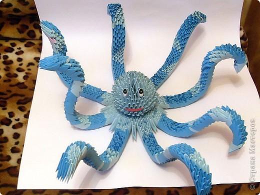 Как сделать из бумаги осьминога