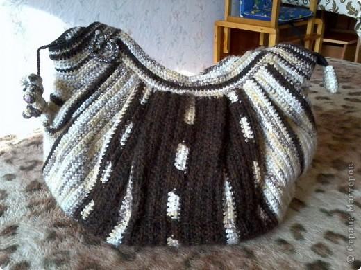 Гардероб Вязание крючком сумки мной связаные пока не многочисленные Нитки фото 1