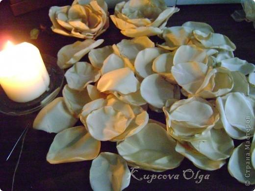 Букет из ракушек-свадебный №2(кремовый)+ бутоньерка фото 2