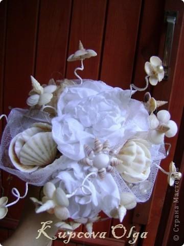 Девочка заказала мне букет из ракушек на свадьбу и вот что у меня получилось фото 5