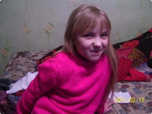 Милая простая кофточка шоколадного цвета для любимой племянницы  фото 2