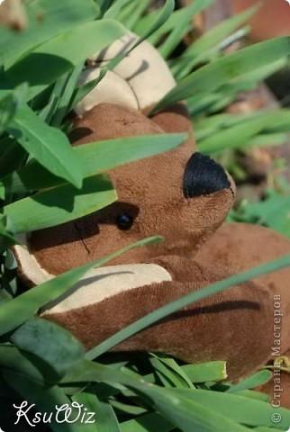 Доброе время суток! Наконец-то показываю вам 3 игровых мишки, сшитых летом и уже давно проживающих со своими новыми маленькими друзьями =) фото 18