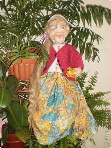 Баба Яга - пакетница. Текстильная скульптура. Сделана по МК Ликмы  фото 1