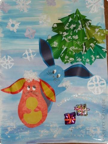 мои 7классники выполняли новогодний плакат на конкурс фото 2