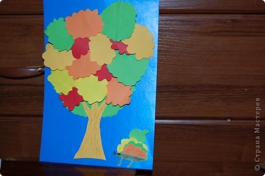 осеннее дерево.делали с дочками 5 и 3 года в садик фото 1