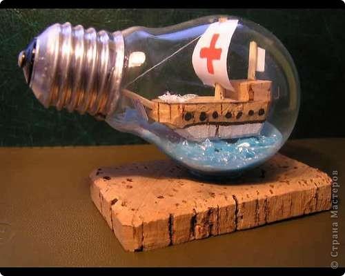 Старые лампочки постепенно уходят в прошлое. Уже можно готовиться к тому, что они станут сувенирами. Воспользовавшись этим <ahref=http://vanessalee.ru/?p=1619>мастер-классом</a>, вы можете превратить скучную устаревшую лампочку в необычный предмет. фото 2