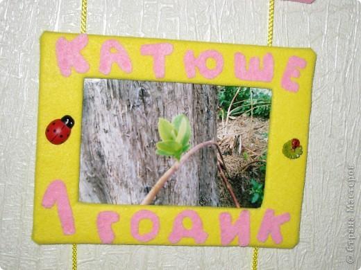 Рамочки сделала для подруги, ее дочке исполняется годик. фото 4