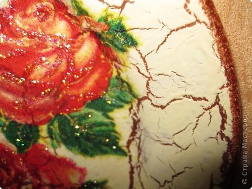 моя первая тарелочка с кракелюром Хочу поблагодарить Всех мастериц кто выкладывает свои знания в Стране мастеров. Спасибо Вам большое!!! фото 2
