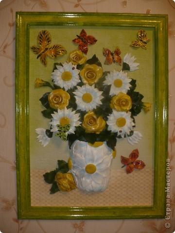 Цветы из соленого теста фото 8