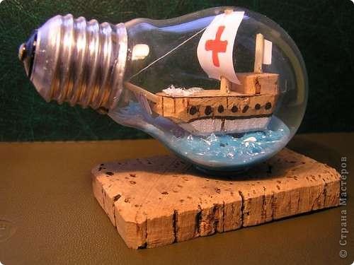 Старые лампочки постепенно уходят в прошлое. Уже можно готовиться к тому, что они станут сувенирами. Воспользовавшись этим <ahref=http://vanessalee.ru/?p=1619>мастер-классом</a>, вы можете превратить скучную устаревшую лампочку в необычный предмет. фото 1