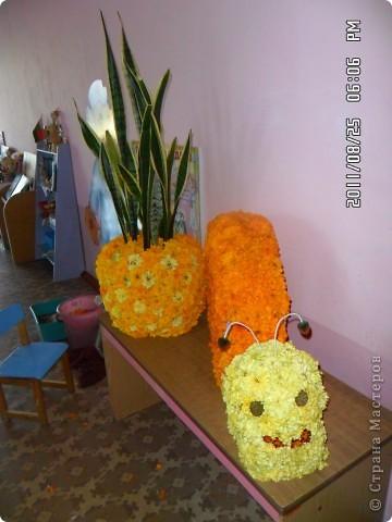 улитка из цветов на паролоне фото 3