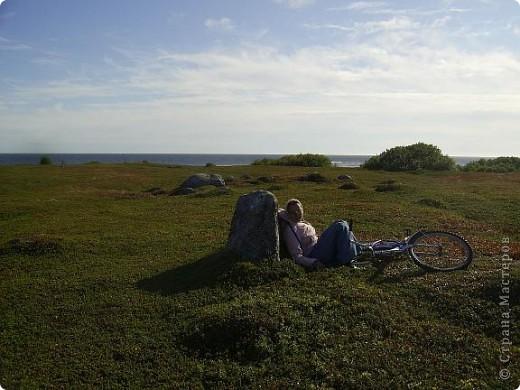 Месяц назад моя дочь ездила на Соловецкие острова к Белому морю. Соловецкий моностырь, и всё, что с ним связано - это очень интересно, но я хочу поделиться с вами тем, что поразило меня больше всего - красота северной природы. Мне, как жителю средней полосы, просто покоя не давали эти пейзажи, когда я их увидела на фото......Посмотрите вместе со мной! Итак, дочь с подругой поехали на велосипедах на южный край острова....... фото 14