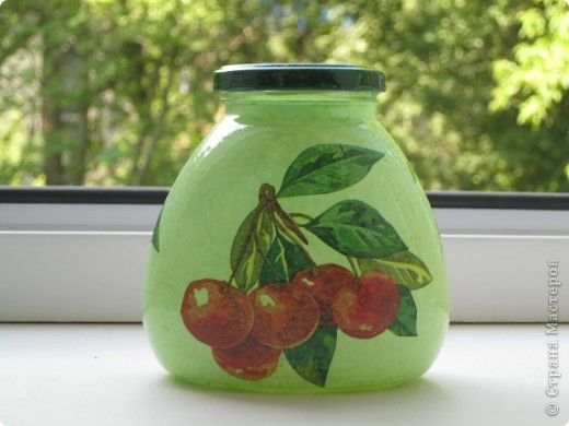Баночка под вишневое варенье фото 1