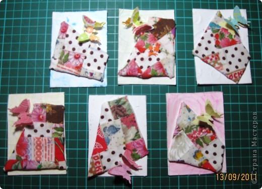 Вот такие тряпочки и бабочки встретились у нас на карточках. фото 1