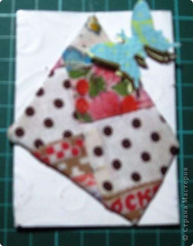 Вот такие тряпочки и бабочки встретились у нас на карточках. фото 4