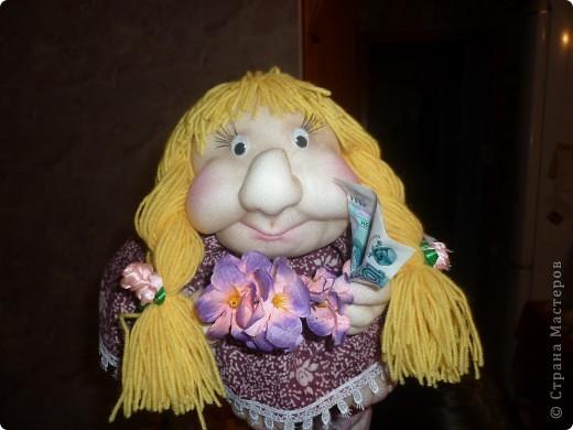сшилась вот такая  кукла на удачу.в подарок. фото 1