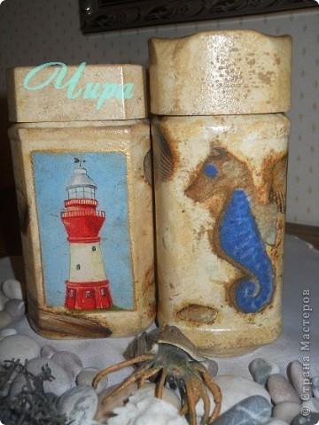 Здравствуйте,уважаемые мастерицы! По приезду с моря захотелось декорировать что-нибудь в морском стиле. Вот начало. Ещё будет бутылка. Она пока в работе. фото 2