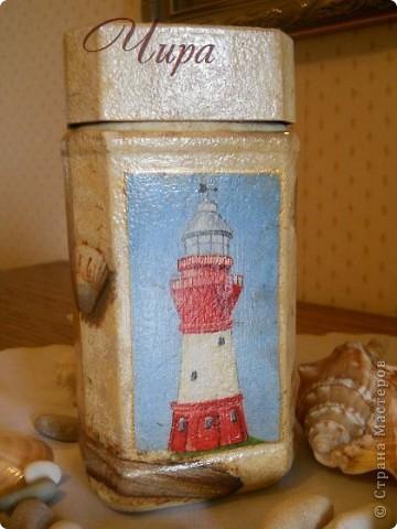 Здравствуйте,уважаемые мастерицы! По приезду с моря захотелось декорировать что-нибудь в морском стиле. Вот начало. Ещё будет бутылка. Она пока в работе. фото 5