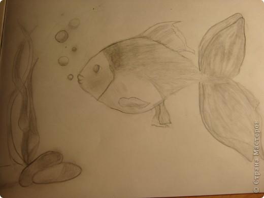 на досуге нарисовала вот такую рыбку=)) фото 1