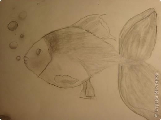 на досуге нарисовала вот такую рыбку=)) фото 2
