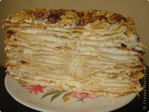 Конечно у каждой хозяйки есть свои 2-3 рецепта торта, кекса или десерта, которые получаются всегда. Вот и у меня есть такой рецепт торта «Наполеон».  фото 6