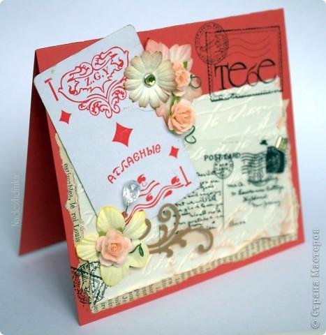 открытки - удивительные малышки )) никогда не устану их мастерить, наверное :) Это - для девочки: фото 4