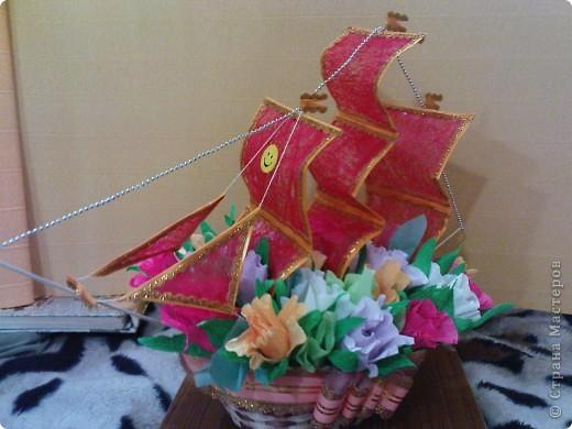Кораблик конфетный фото 2