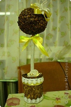 Топиарий из зерен кофе фото 1