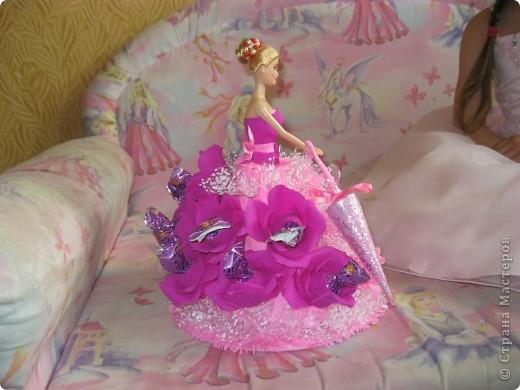 Кукла для пламяшки на день рождения. Это моя самая первая работа, очень хотелось порадовать сладкоежку. фото 3