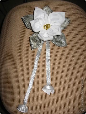 Здравствуйте, жители Страны мастеров!!!!    Я сегодня с новой работой-это цветок для дизайна (его можно и на штору повесить и использовать как украшение интерьера или ещё как-нибудь...) фото 1