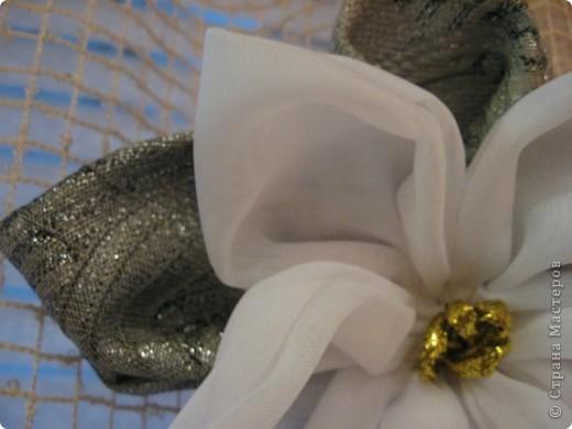 Здравствуйте, жители Страны мастеров!!!!    Я сегодня с новой работой-это цветок для дизайна (его можно и на штору повесить и использовать как украшение интерьера или ещё как-нибудь...) фото 5