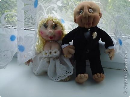 Вот такого жениха  для нашей невесты сделала.Заказ был  на жениха без волос фото 2