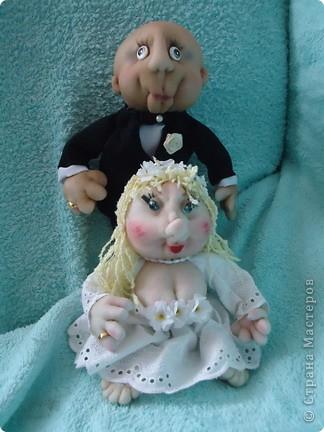 Вот такого жениха  для нашей невесты сделала.Заказ был  на жениха без волос фото 3