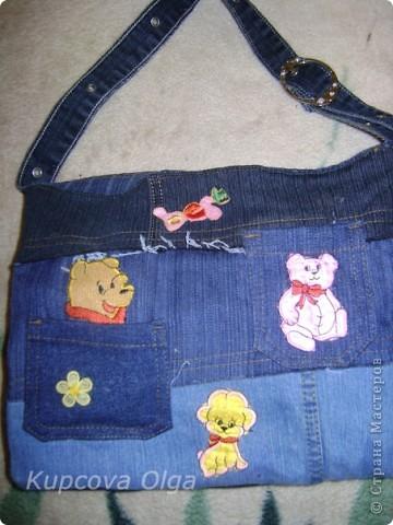 Сумки из обрезков джинс фото 4