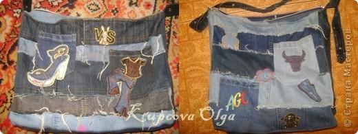 Сумки из обрезков джинс фото 3