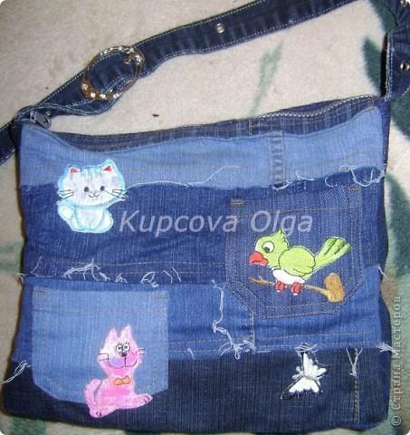 Сумки из обрезков джинс фото 5