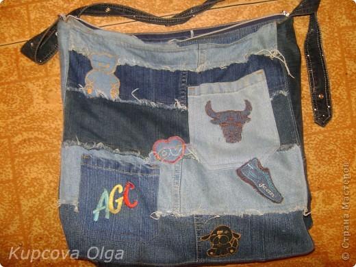 Сумки из обрезков джинс фото 1