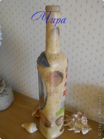 Здравствуйте,уважаемые мастерицы. Показываю обещанную бутылочку к уже показанным недавно баночкам. http://stranamasterov.ru/node/239069/  фото 3
