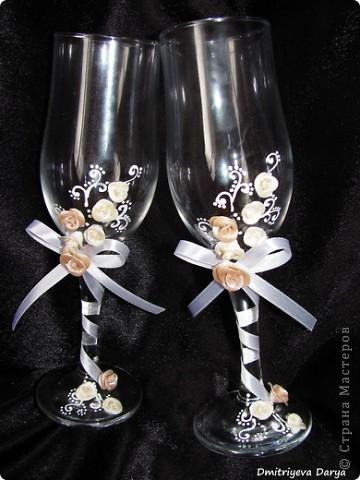 Бокалы для невесты и жениха фото 1