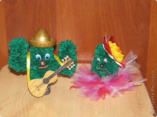 Сладкая парочка из Мексики (кактусы, торцевание) фото 1