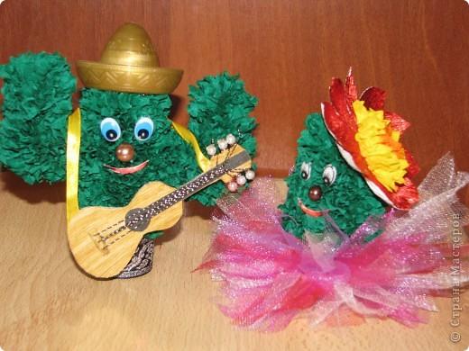 Сладкая парочка из Мексики (кактусы, торцевание) фото 8