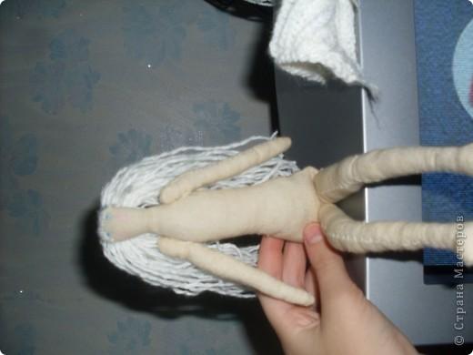 Я сшила сегодня свою первую тильду! Её зовут Снежинка,и не думайте что у неё есть что то общее со Снежной Королевой! фото 3