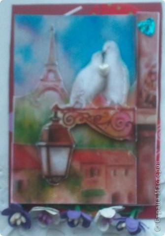 """Думаю, пришло время собрать вместе АТС-карточки по игре Елены Гайдаенко """"Поиграем"""".Для картинок, отправленных девочкам, я использовала старые открытки. Оксана Ефимова """"Мама"""" (так Оксана назвала карточку). фото 9"""