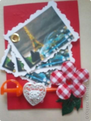 """АТС-игра Олисандры. Тема """"Влюбленный в Париж"""". Эта карточка, одна из двух, осталась у меня. фото 1"""